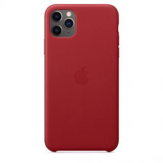 Kožené pouzdro Leather Case pro Apple iPhone 11 Pro Max, red