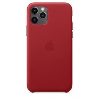 Kožené pouzdro Leather Case pro Apple iPhone 11 Pro, red