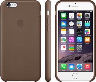 Kožené pouzdro Leather Case pro Apple iPhone 6 Plus, olive brown