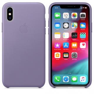 Kožené pouzdro Leather Case pro Apple iPhone XS Max, lilac