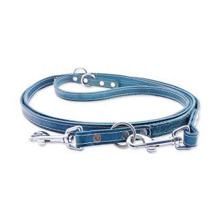 Kožené přepínací vodítko Tamer 1,4cm/2,5m modré