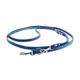 Kožené přepínací vodítko Tamer 1cm/2,5m modré
