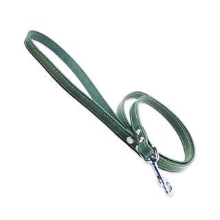 Kožené vodítko Tamer 1,4cm/175cm zelené
