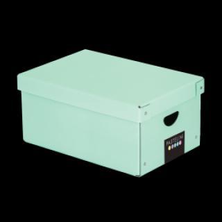Krabice lamino PASTELINI zelená XL 35,5x24x16 cm
