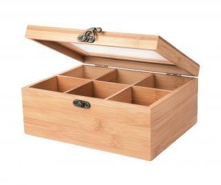 Krabice na čaj Ecoliving Krémová
