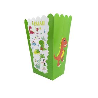 Krabička na popcorn s dinosaury 6 ks