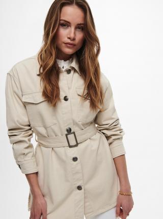 Krémová lehká bunda s páskem ONLY Milla dámské S
