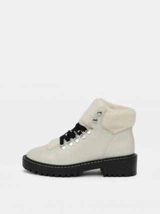Krémové kotníkové zimní boty ONLY dámské krémová 38