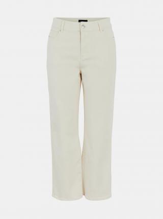 Krémové volné džíny Pieces Lannie dámské krémová XL
