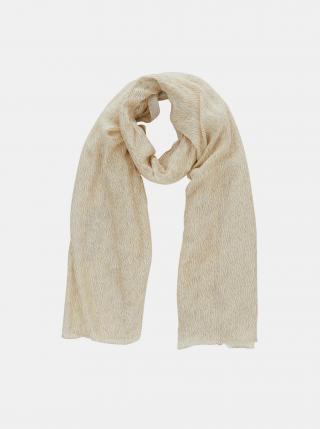 Krémový vzorovaný šátek Pieces Gisna dámské krémová