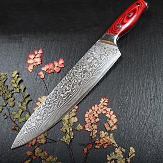 Kuchařský nůž z damascénské oceli C275