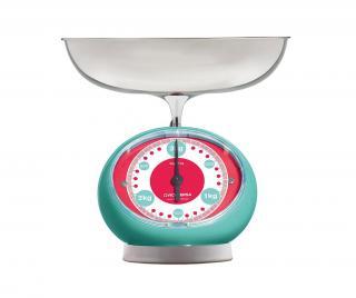 Kuchyňská váha Tix Turquoise Modrá