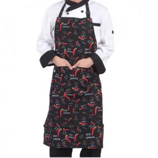 Kuchyňská zástěra s potiskem - Chilli papričky