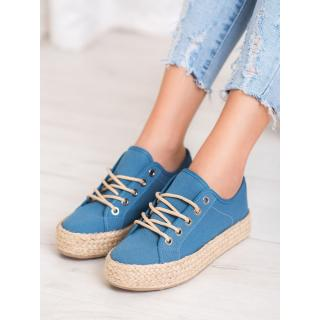 KYLIE SNEAKERS ON STRAW PLATFORM dámské shades of blue 36