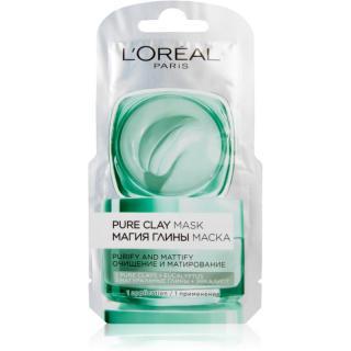 L'Oréal Paris Pure Clay čisticí zmatňující maska 6 ml dámské 6 ml