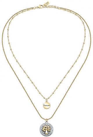 La Petite Story Dámský ocelový náhrdelník s přívěsky Strom života Family LPS10ASF03