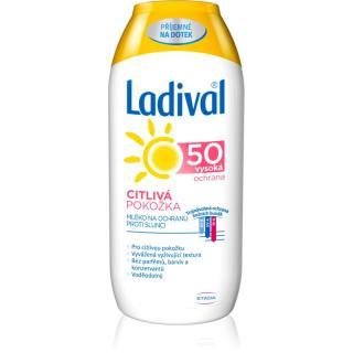 Ladival Citlivá Pokožka mléko na opalování pro citlivou pokožku SPF 50 200 ml dámské 200 ml