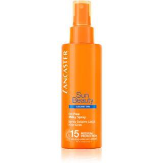 Lancaster Sun Beauty Oil-Free Milky Spray nemastné mléko na opalování ve spreji SPF 15 150 ml dámské 150 ml