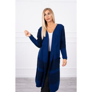 Lapel sweater navy blue dámské Neurčeno One size
