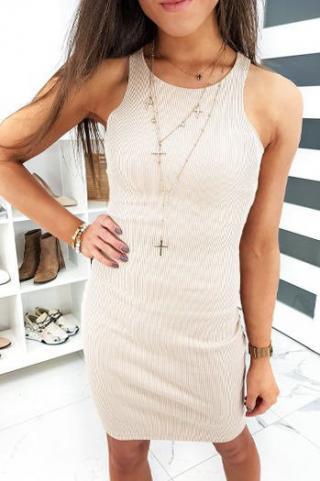 LAPRASE beige dress EY1185 dámské Neurčeno One size