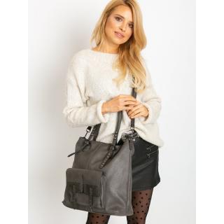 Large gray eco leather bag dámské Neurčeno One size
