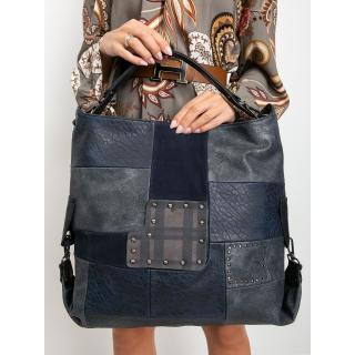 Large navy blue eco leather bag dámské Neurčeno One size