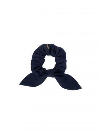 Látková gumička do vlasů Navy Rubber Band dámské tmavě modrá
