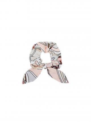 Látková gumička do vlasů Pastel Rubber Band dámské růžová