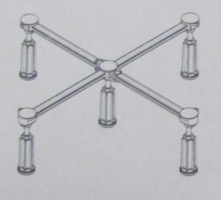 Laufen Nohy ke sprchovým vaničkám, 80 × 75 - 90 × 90 cm, výška 125 - 185 mm H2955520000001