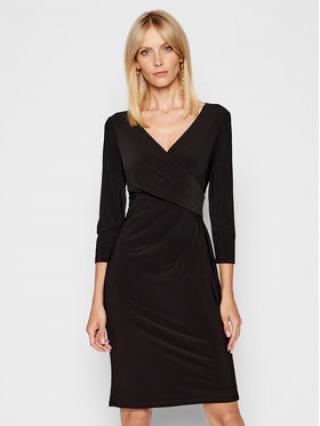 Lauren Ralph Lauren Každodenní šaty Wrap-Front 250768183009 Černá Slim Fit dámské 8