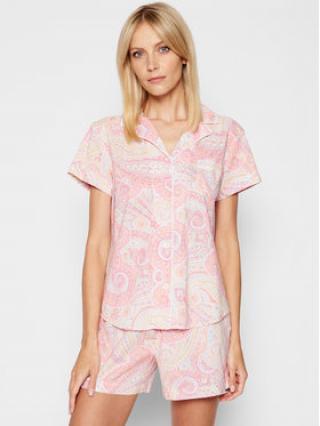 Lauren Ralph Lauren Pyžamo ILN12079 Růžová dámské XS