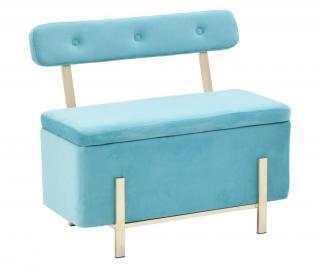 Lavice s úložným prostorem Velvet Blue Modrá