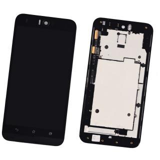 LCD display, dotyková deska a rámeček pro Asus Zenfone Selfie ZD551KL Black