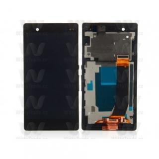 LCD display, dotyková deska a rámeček pro Sony Xperia M Black