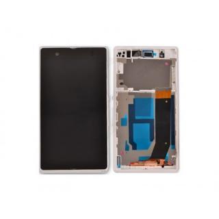 LCD display, dotyková deska a rámeček pro Sony Xperia M White