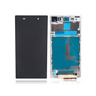 LCD display, dotyková deska a rámeček pro Sony Xperia Z White
