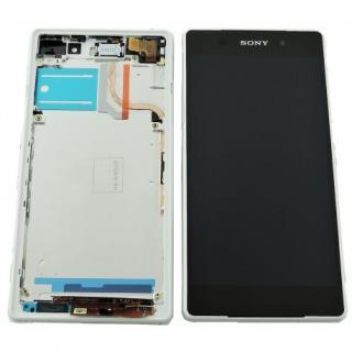 LCD display, dotyková deska a rámeček pro Sony Xperia Z2 White