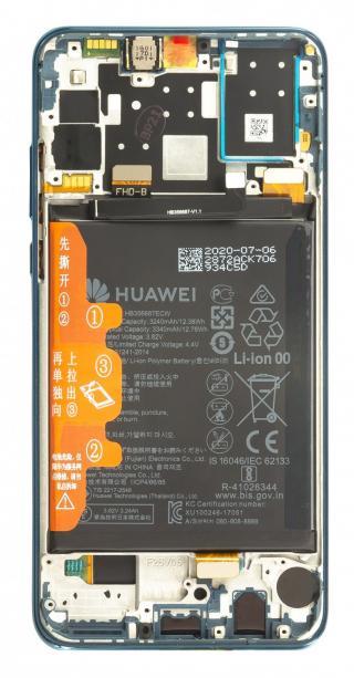 LCD   dotyk   přední kryt   baterie pro Huawei P30 Lite 2020 New Edition, blue