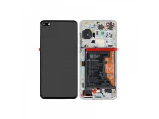 LCD   dotyk   rámeček pro Huawei P40, ice white