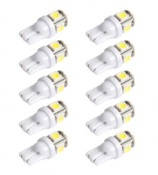 LED bílá žárovka do auta - 10 kusů