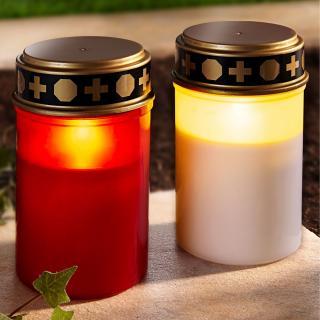 Led hřbitovní svíčka, bílá
