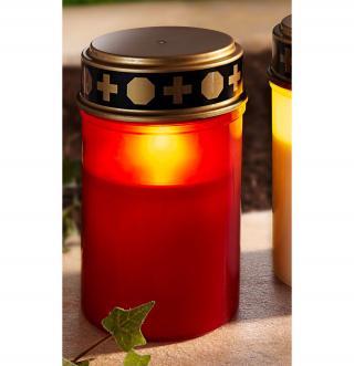 Led hřbitovní svíčka, červená