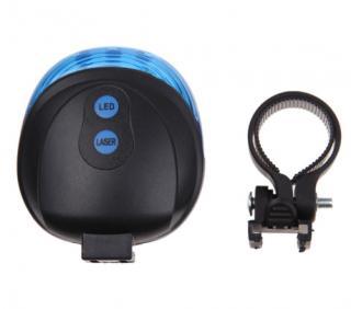 LED světlo na kolo s laserem Barva: modrá