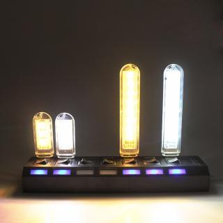 LED USB přenosné světlo 8 diod - 2 barvy Barva: teplá bílá