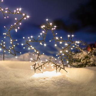 Led zahradní zápich hvězda, 30 cm