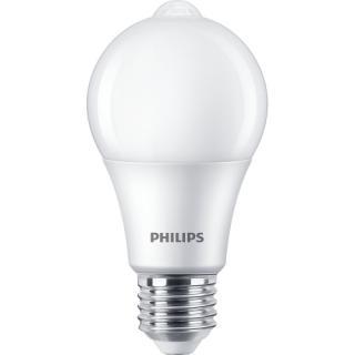 LED žárovka E27 Philips A60 8W  s pohybovým čidlem