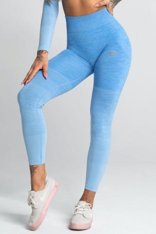 Legíny Gym Glamour Bezešvé Blue Ombre dámské modrá XS