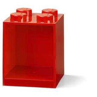 LEGO Brick 4 závěsná police - červená