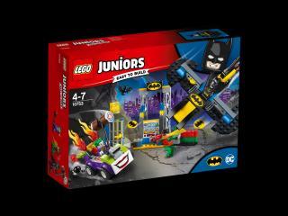 LEGO® Juniors 10753 Joker™ útočí na Batcave červená