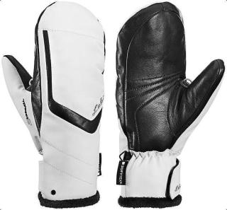Leki Stella S Lady Mitt Womens Ski Gloves White/Black 8